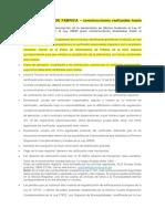 Declaratoria de Fábrica - Requisitos