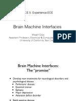 ECE 5 Lecture 3B - Brain Machine Interfacing