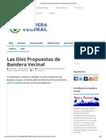 Las Diez Propuestas de Bandera Vecinal _ Bandera Vecinal