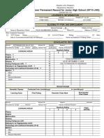 School Form 10