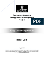 BCom SCM Year 3 Supply Chain Management 3A January 2019