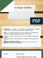 Term Paper Outline Ppt