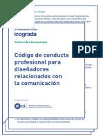 Código de conducta profesional para diseñadores relacionados con la comunicación