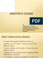 Kristen's cookie company case study+sample answer