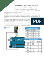 Arduino UNO con NRF24L01P