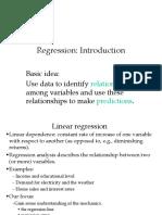 Intro Regression