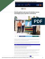 Diseña gobierno de Laura Fernández nuevas estrategias para impulsar a artesanos – Palco Noticias