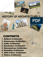 History of Architecture 2 Timeline