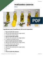Aceites aromatizados caseros