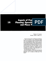 16 Aspects of Production Planning - Operating Layout and Phase Plans