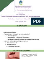 Presentación Preparación y Aplicación de Anestesia Acupuntural