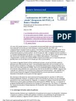 Condonación de La Deuda FMI