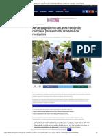Refuerza gobierno de Laura Fernández campaña para eliminar criaderos de mosquitos – Palco Noticias