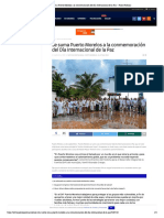 Se suma Puerto Morelos a la conmemoración del Día Internacional de la Paz – Palco Noticias