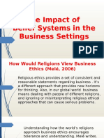 The Impact of Belief Systems in the Business Settings