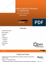 Reproducible quantum chemistry in Jupyter Notebooks