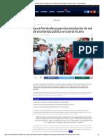 Laura Fernández supervisa ampliación de red de alumbrado público en Leona Vicario – Palco Noticias