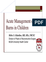 Acute Management of Burns in Children