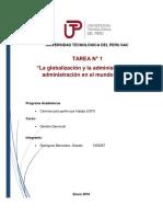La Globalizacion y admi UTP