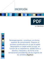 Senopercepción Clase