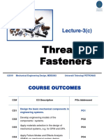 07 MDB3083 Lecture3(c) Threaded Fasteners