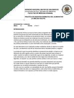 INFORME DE LA PRACTICA DE DIGESTION ENZIMATICA DEL ALMIDON POR LA AMILASA SALIVAL