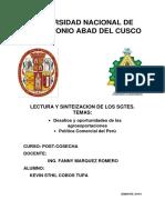 Desafios y Oportunidades de Las Agroexportaciones Politica Comercial Del Peru