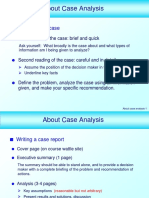 Assignment 2 - Case Analysis Information