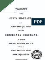 Surya Siddhanta and Siddhanta Siromani