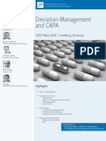 ECA Deviation Management CAPA