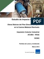 8 EIA165 Impulsión Colector Industrial ACUBA Wilde