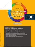 Clinical Reasoning Learning to Think Like a Nurse ---- (Chapter 1 Clinical Reasoning What It is and Why It Matters)