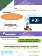 4.27 - Função Polinomial Do 2º Grau Gráficos, Construção e Análise (a)