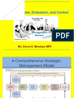 Strategy Review, Evaluation and Control