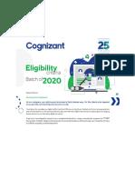 Cognizant Eligibility Criteria 2020 Batch