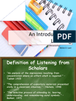 Teaching of Listening and Reading
