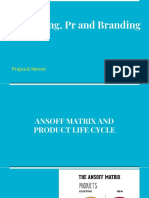 Ansoff matrix and product life cycle