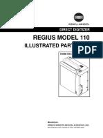 Konica Minolta Regius Model 110 Spare Parts