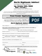 Food Vendor Form