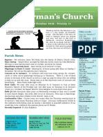 st germans newsletter - 13 oct 2019 - trinity 17