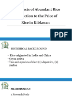 The Effects of Abundant Rice Production to the Aliaasssssss Group