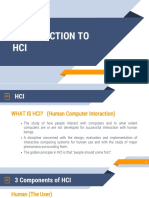 1 Introduction HCI