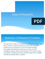 Steps of Research