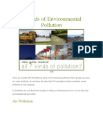 7 Kinds of Environmental Pollution