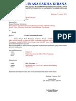 contoh surat permohonan pergantian personi
