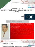2. Dr.dr. Sutoto - KOMUNIKASI EFEKTIF ANTAR STAF KLINIS DLM SKP.pptx