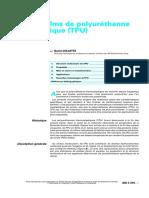 Feuilles Et Lms de Polyuréthanne Thermoplastique (TPU)
