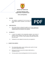 Rules and regulations for debate competition (Piala Tun Razak)