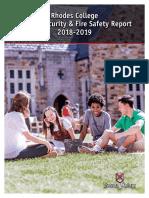 Rhodes Campus Safety Report 2018-2019