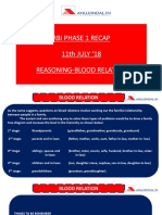 RBI Phase 1 Recap 11 July 18 Reasoning Blood Relation